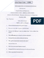 CS2351 AI Question Paper November December 2012