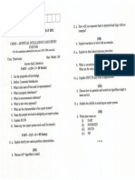 CS0302 AI Question Paper May 2012
