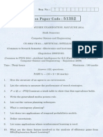 CS2351 AI Question Paper May June 2014