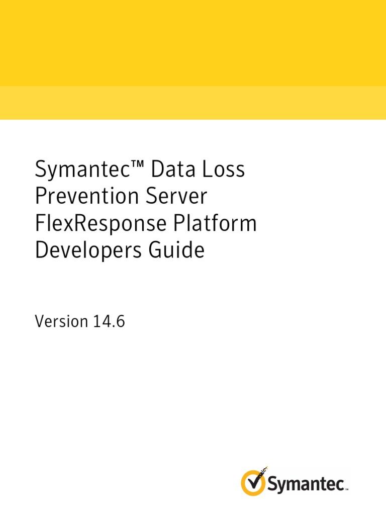 symantec dlp 146 server flexresponse platform developers guide application programming interface java programming language
