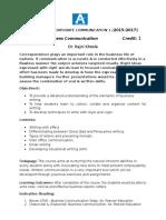 Business Communication Term 2- Course Outline