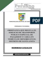 Ordenanza Que Regula El Servicio de Transporte Publico Espec Ordenanza No 00186mdsa 1328595 1