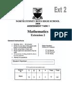 NSB 4U Maths Task 1 2009