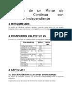 Modelado de Un Motor de Corriente Continua Con Excitacion Independiente