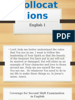 Collocations, Definitions, Types of Exam Shift2