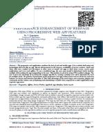 PERFORMANCE ENHANCEMENT OF WEBPAGE USING PROGRESSIVE WEB APP FEATURES
