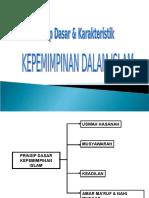 02 - Prinsip Dasar & Karakteristik Kepemimpinan Islam