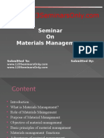Materials Management PPT