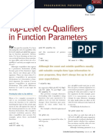 2000-02 Top-Level Cv-Qualifiers in Function Parameters