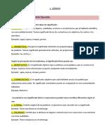 Campo Semantico Asociativo Familia Lexica Denotacion Connotacion Sentido Literal Figurado