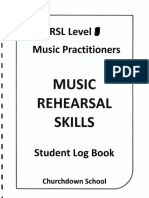 examples of rehearsal log