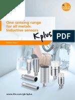 One sensing range for all metals. Inductive sensors (EN)