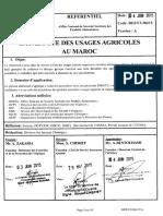 Catalogue Des Usages Agricoles Au Maroc Du 04062015