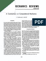 A Commentary on Computational Mechanics