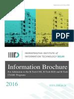 IIITD Brochure 2016