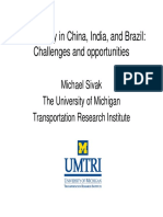 Road Safety in India China and Brazil Challenges and Opportunities
