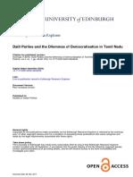 Dalit Parties Dilemmas Democratisation Tamil Nadu