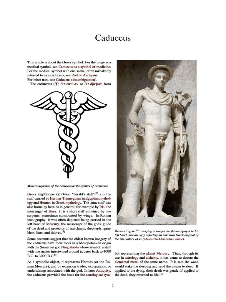 Caduceus Symbols Mythology