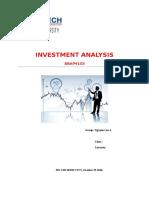 Invesment Analysis