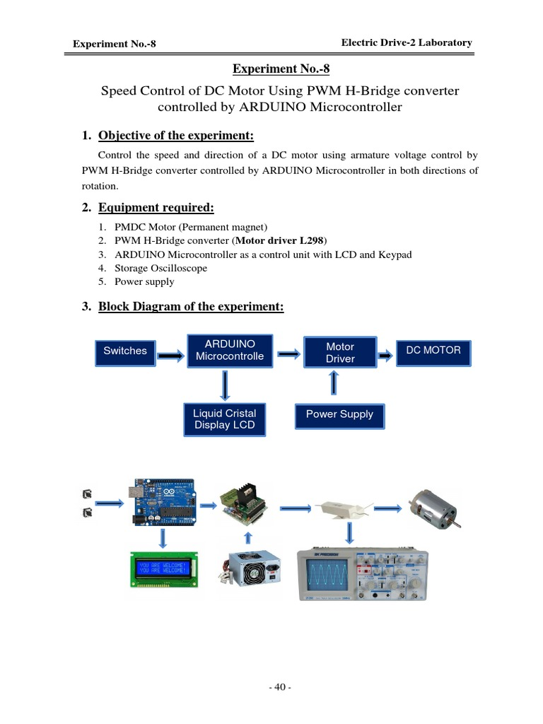 Exp 8 Arduino Electrical Engineering H Bridge Block Diagram