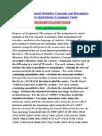 QNT 561 Assignment Statistics Concepts/qnt561genius.com