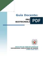 GBQ Guia Docente Procesos Biotecnologicos 2016 FINAL