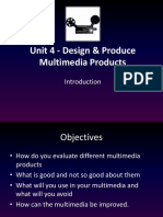 unit 4 - design   produce multimedia productstask1