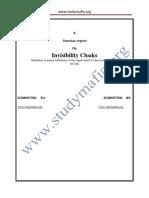 CSE Invisibility Cloaks Report