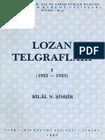 Bilal N Şimşir Lozan Telgrafları