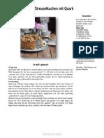Mohn Streuselkuchen Mit Quark Rezept