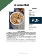 Schnelles-Knoblauchbrot-Rezept