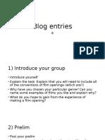 Blog Entries