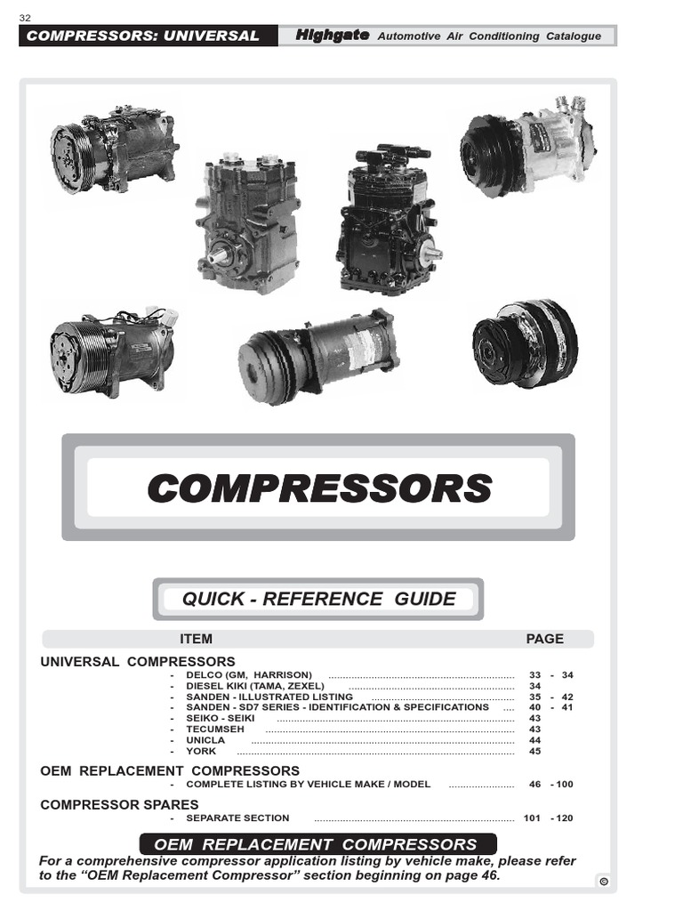 Compressors pdf | Clutch | Air Conditioning