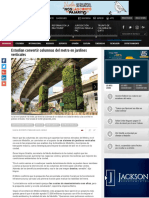 _Estudian Convertir Columnas Del Metro en Jardines Verticales
