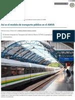 _Así es el modelo de transporte público en el AMVA - Instituto de Estudios Urbanos