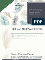 Matrix Evaluasi Internal Dan Eksternal Walt Disney Company