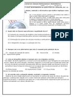Atividade Avaliativa de Ciências-história e Geografia