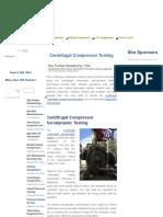 Centrifugal Compressor Testing