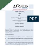 Ley para la Gestión Integral de Residuos Sólidos,Ley GIRS No.8839