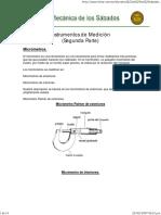 Instrumentos de Medición El Micrometro