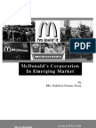 McDonald's Corporation In Emerging Market