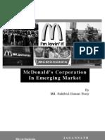 McDonald's Corporation In Emerging Market