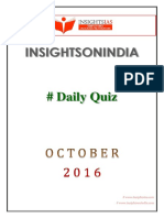 Insights Daily Quiz Oct 2016