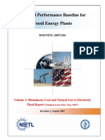 Cost and Performance Baseline for Coal Plants