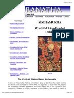 Simhamukha Teachings - Vajranatha.com