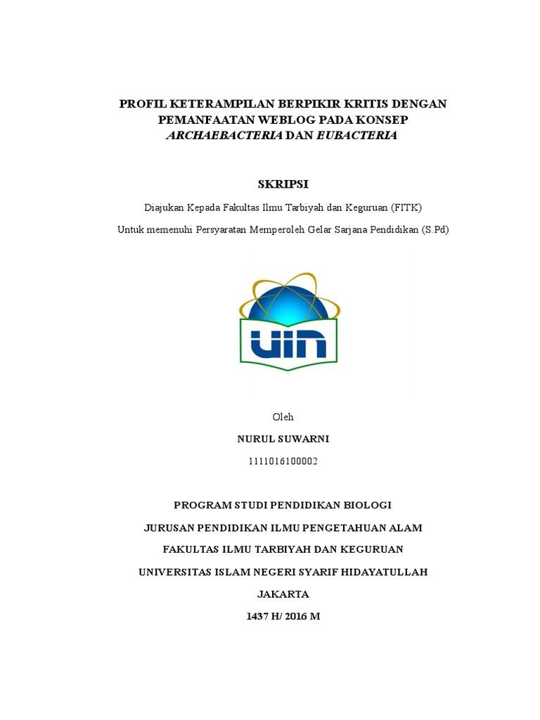 Skripsi Uin Jakarta Fakultas Tarbiyah Pejuang Skripsi