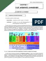 4 - Sources Et Intensité Lumineuse - I - 15p