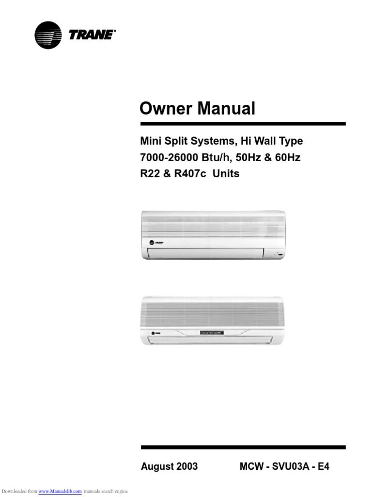 Manual mcw tranepdf air conditioning hvac sciox Choice Image