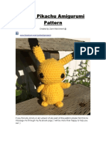 Small Pikachu Pattern