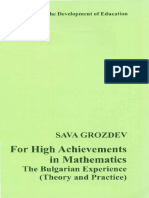 For High Achievements in Mathematics, The Bulgarian Experience (2007) - Grozdev
